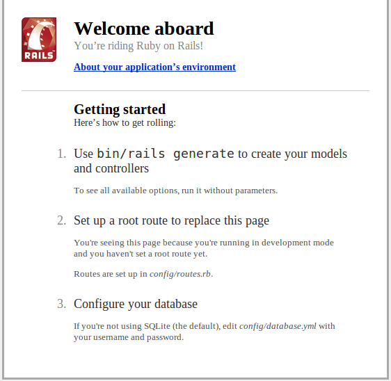 Welcome to Rails!