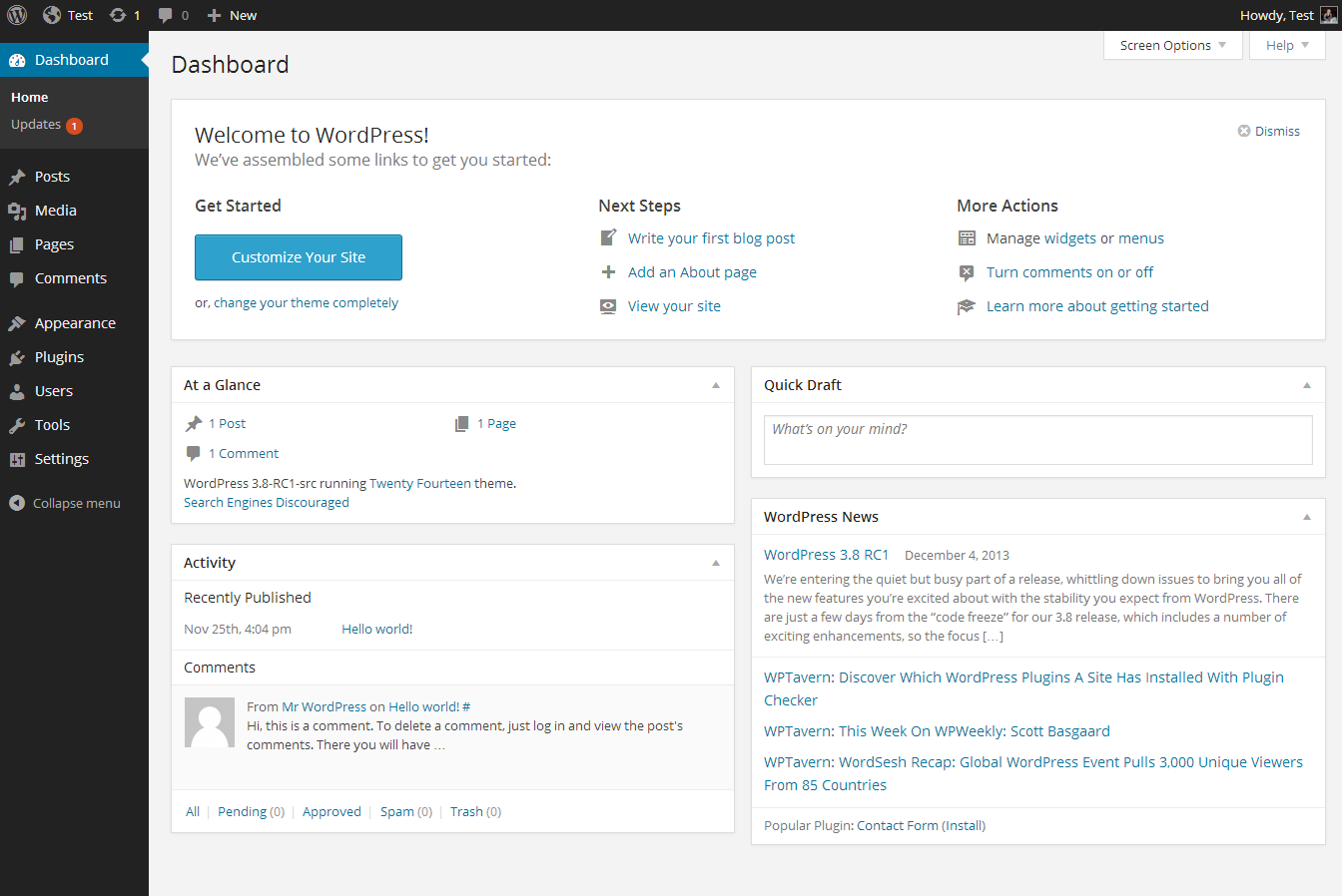 wp_dashboard