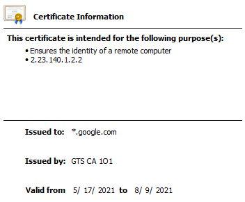 Wildcard TLS certificate